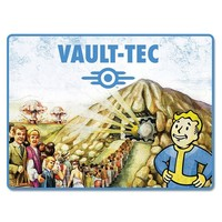 "Fallout Vault Tec 45""x 60"" Super Soft Throw Blanket Gamer Gaming"