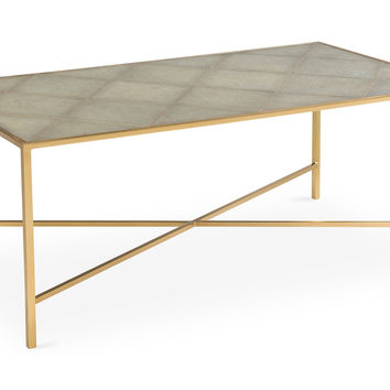 Emilia Shagreen Coffee Table, Cocktail Table