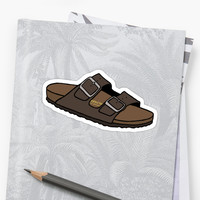 'Birkenstock Sandal' Sticker by meg104