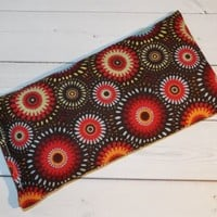 Aromatherapy Eye Pillow - Flax Seed & Lavender - brown medallions -  yoga