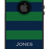Otterbox iPhone 5 Case Commuter Series 5 5s Personalized Men Guys Gift Rugby Stripe Preppy Monogrammed Protective Plastic Hard Cover OB-1106