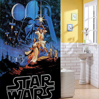 Retro Star Wars Shower Curtain shower curtain