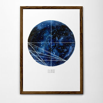 Custom Astrology Birth Chart Painting