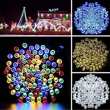 Outdoor 100 200 300 LED Solar Power String Christmas Fairy Lights Waterproof