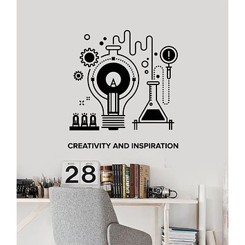 Vinyl Wall Decal School Creative Inspiration Chemistry Table Teen Room Stickers Mural (g1695)