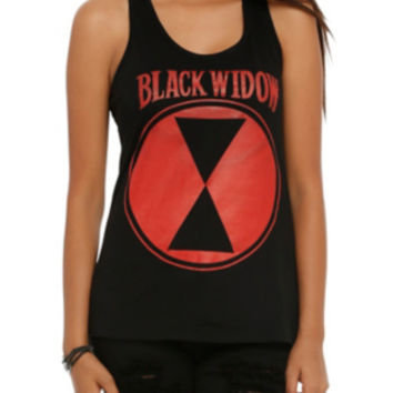 Marvel Black Widow Logo Girls Tank Top
