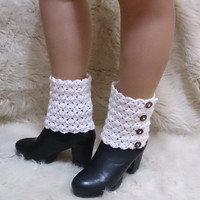 Button boot cuffs, crochet boot cuffs, adjustable, lace boot cuffs, boot cuffs, girlfriend gift, boot cover, boot toppers, plus size
