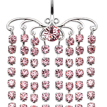 Sparkling Curtain Chandelier Belly Button Ring