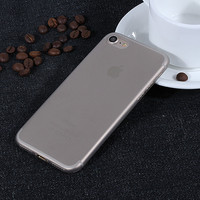Gray 0.3 mm Ultra Thin Slim Plastic Soft Transparent Clear Back Cover Phone Case for Apple iPhone 7 7 Plus