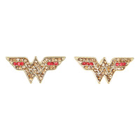 DC Comics Wonder Woman Bling Logo Earrings