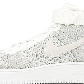 BC AUGUAU Nike Air Force 1 Mid Flyknit Off White