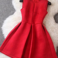 Women dress winter cotton dress