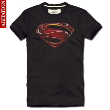 Summer 2014 3D Printed T Shirt Superman Diamond Brand Fitness Men T Shirt Casual Fashion Designer Clothing Man Camisas T-Shirts = 1946601284