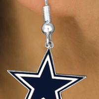 NFL Earrings - Dallas Cowboys Lead & Nickel Free Wire Earrings