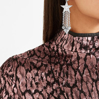 Miu Miu - Silver-tone, crystal and Perspex clip earrings