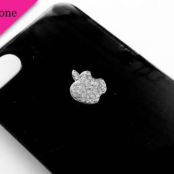 iPhone Case 5  Rhinestone Apple Logo by VanityCases on Etsy