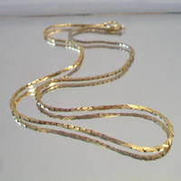 Vintage Box Link Chain Necklace Retro Unisex Costume Jewelry Fashion Accessories