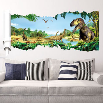 Wall stickers dinosaur park the household adornment of children room wall stickers on the wall SM6