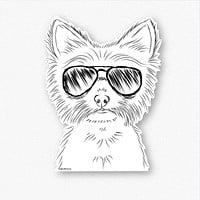 Farva the Yorkie - Decal Sticker
