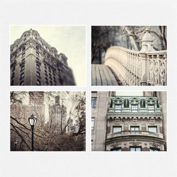 New York City Print Set, NYC Photography, Grey Urban Decor, NYC Architecture Prints, NYC Landscape Decor, Cityscapes, New York City Art..