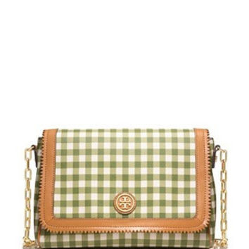 Tory Burch Kerrington Gingham Chain Strap Crossbody