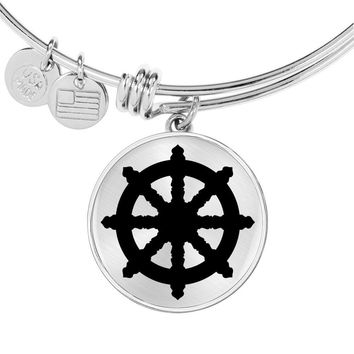 Dharma Wheel - Bangle Bracelet