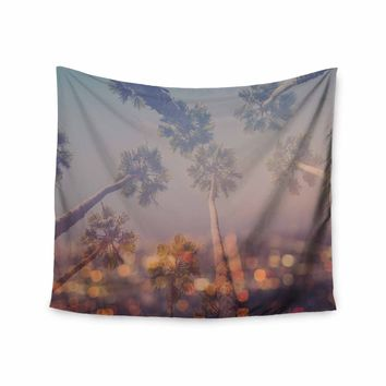"Ann Barnes ""Postcard From L.A."" Blue Purple Digital Wall Tapestry"