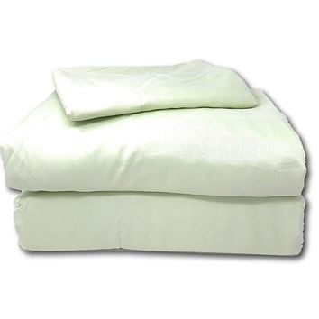 Tache 3-4 Piece Solid Sage Green Bed Sheet Set (202-SG-BSS)
