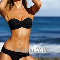 New Fashion Women Halter Sexy Bikini Swimming Suit Padded