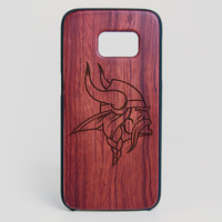 Minnesota Vikings Galaxy S7 Edge Case - All Wood Everything