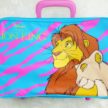 Vintage 1990s The Lion King Simba and Nala Suitcase