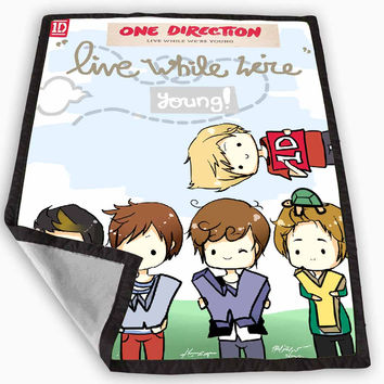 one direction love art cartoon Blanket for Kids Blanket, Fleece Blanket Cute and Awesome Blanket for your bedding, Blanket fleece *
