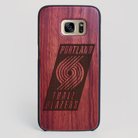 Portland Trail Blazers Galaxy S7 Edge Case - All Wood Everything
