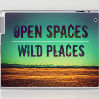 Open Spaces Wild Places Laptop & iPad Skin by Melanie Ann | Society6