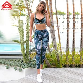 SYPREM Women sexy Yoga Set Gym Women's Yoga sets bra leggings Tennis Running Tight Jogging Workout Leggings Sportswear,twb010