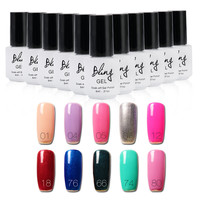 Brand Bling Nail Gel Polish Colourful UV Long Lasting Environment Friendly Gorgeous Charming Colors Manicure Gel Nail Art 163061