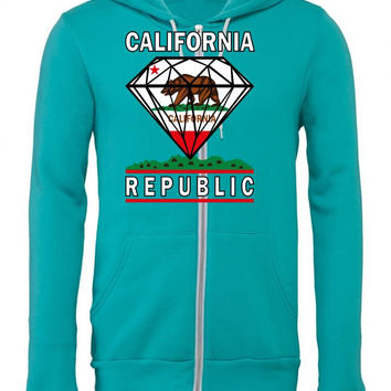 california diamond republic Zipper Hoodie