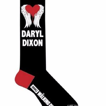 Walking Dead I Heart Daryl Dixon Wings WoAdult Knee High Socks
