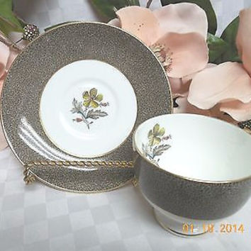 Wedgwood China Dinnerware Elaine Pattern #:W4241 Leigh Cup and saucer