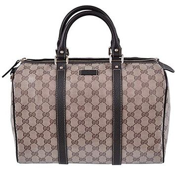 Gucci 265697 Women's Crystal Canvas & Leather Guccissima GG Boston Purse  Gucci bag