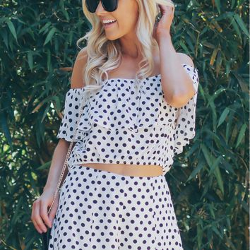 Polka Dot Shorts White/ Black