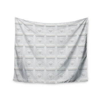 "KESS Original ""Palace Ceiling Tiles"" White Abstract Wall Tapestry"