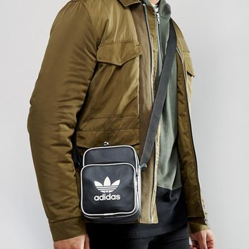 adidas Originals Retro Flight Bag In Black BK2132 at asos.com