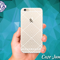 White Line Art Pyramid Pattern Tumblr Inspired Clear Case For iPhone 5, iPhone 5C, iPhone 6, and iPhone 6 +, iPhone 6s, iPhone 6s Plus +