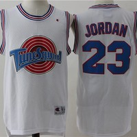 Best Sale Online Space Jam Movie Jersey # 23 Michael Jordan White