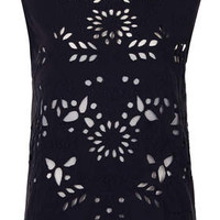 Cutwork Tank - Washed Black