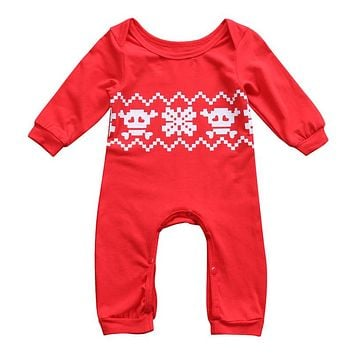 Christmas Halloween Baby Clothing Newborn Baby Boys Girls Christmas Long Sleeve Romper Jumpsuit Outfits Clothes