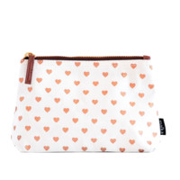 Hearts Copper Canvas Pouch
