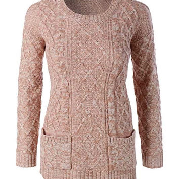 By The Fireside Sweater - Rose