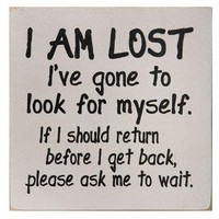 I Am Lost Sign | Gift Shop | SkyMall